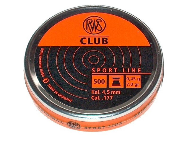 RWS CLUB 4,5 mm 500 pellets