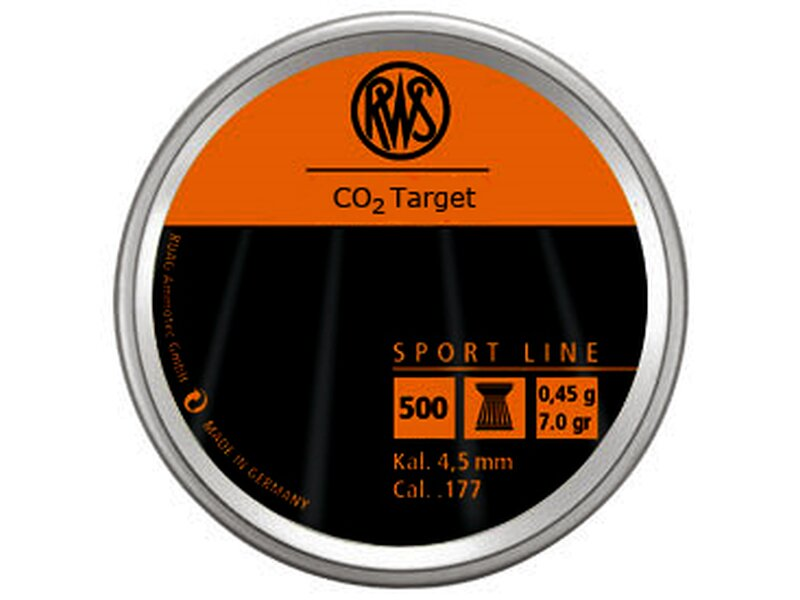 RWS CO2 TARGET 4,5 mm 500 pellets