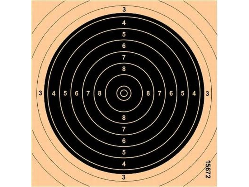 Small bore target 13,5 x 13,5 black, numbered