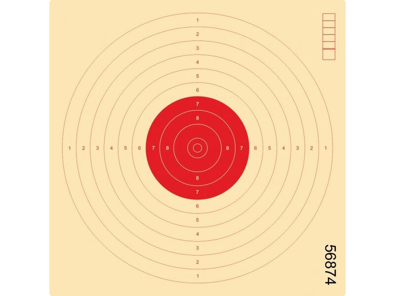 Air pistol target 17x 17, colored