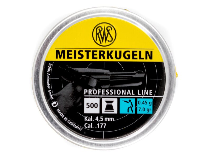RWS Meisterkugeln, yellow, 500 pellets