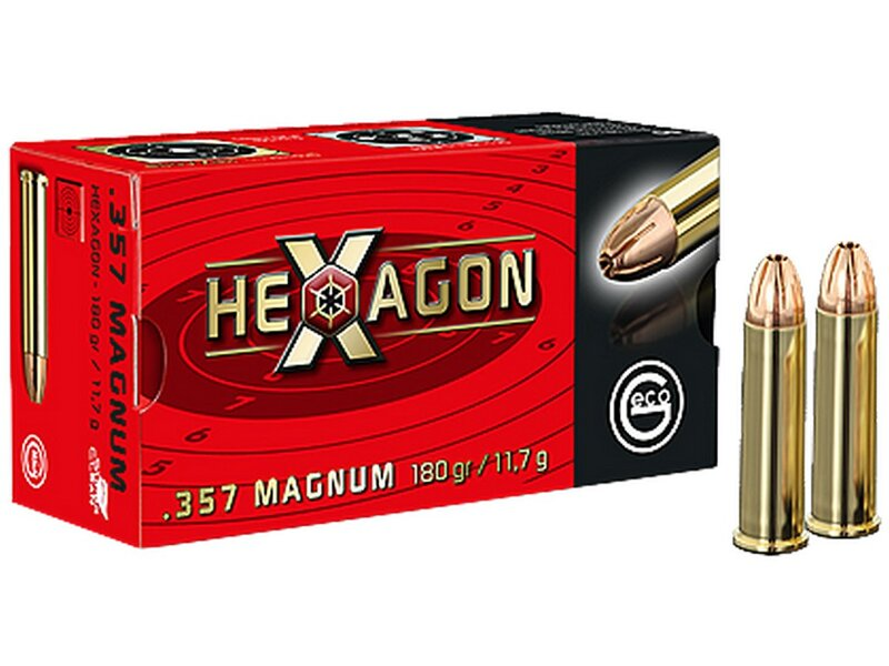Geco .357 Mag. Hexagon 180grs. 50 Schuß