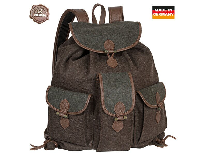 AKAH Loden Roesack brown/green