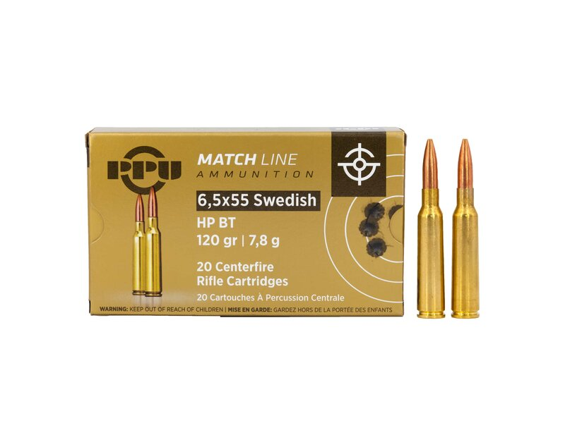 PPU 6,5 x 55 MATCH 120grs – Hollow Point 20 Schuss