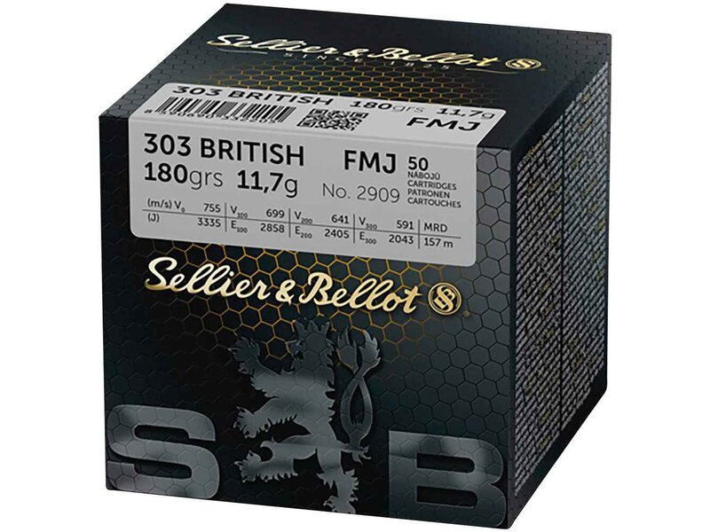 S&B, .303 British Vollmantel 180 grs. 50St.