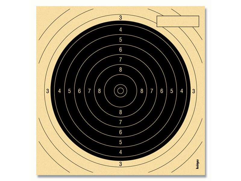 Small bore Competition target 13,5 x 13,5 black, numbered